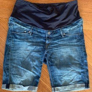Most perfect maternity shorts denim 12 blue summer